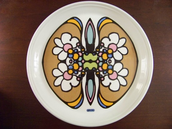 Peter Max Iroquois China plate