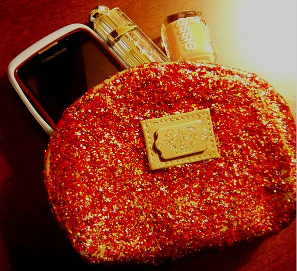DIY glitter coin purse Kate Spade