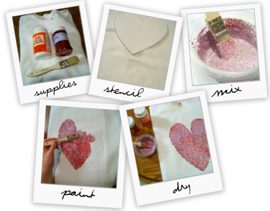 DIY Wildfox Couture heart jumper