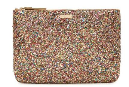 kate spade glitter purse