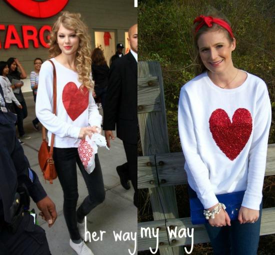 Taylor Swift heart sweater