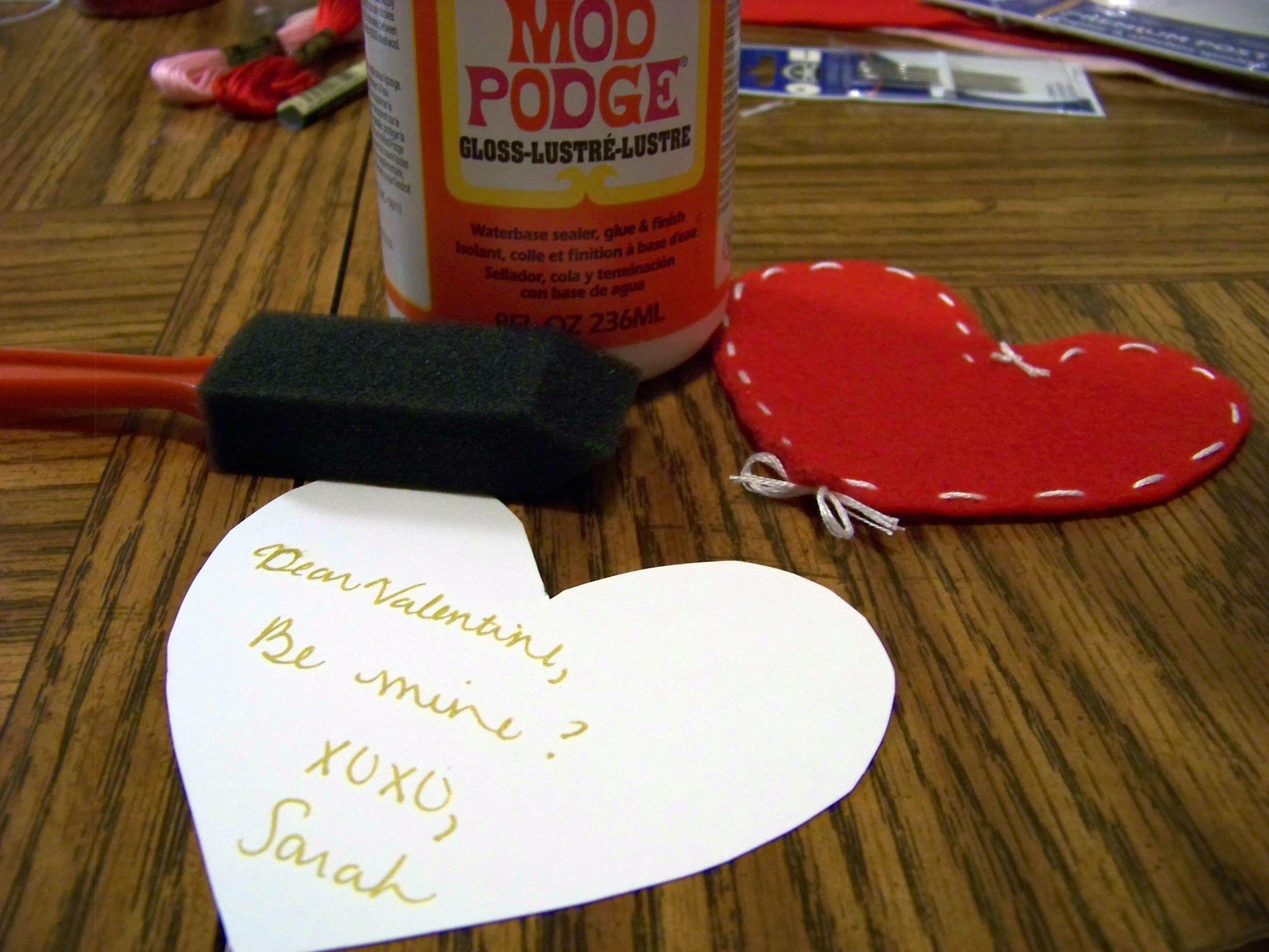 modpodge valentine