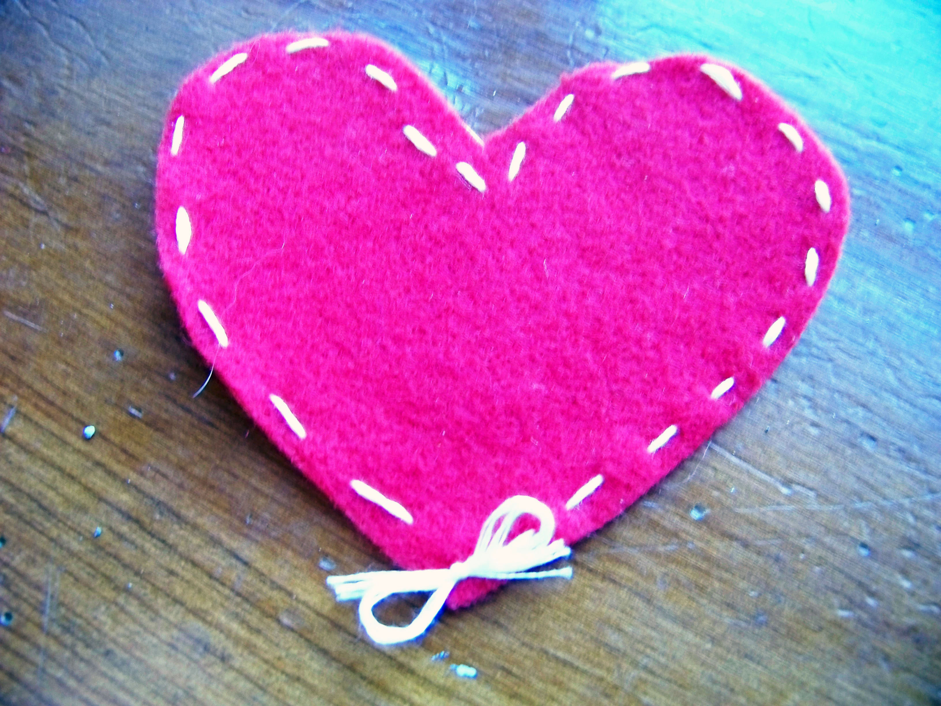homemade valentine heart with bow