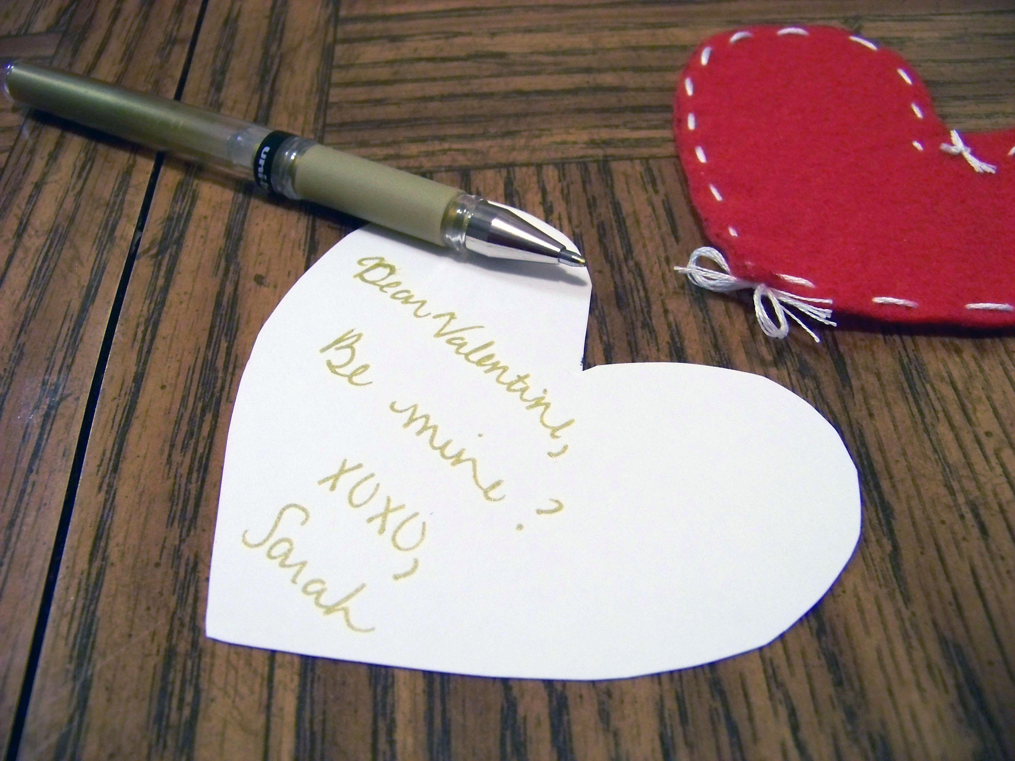 homemade valentine letter
