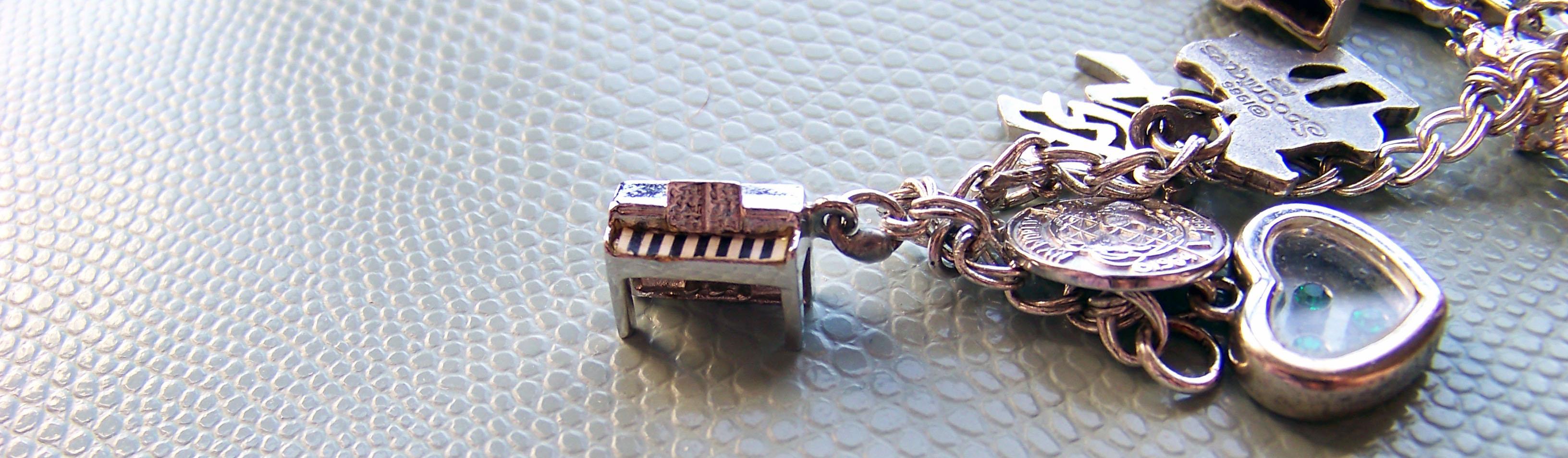 vintage piano charm