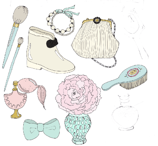emmakisstina sketches for tulle and trinkets
