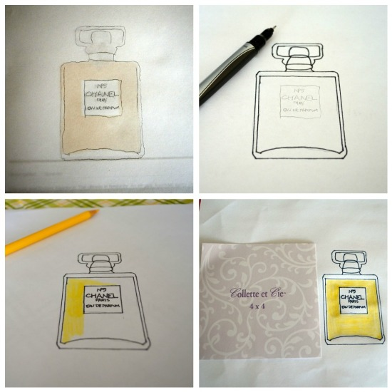 diy perfume bottle illustration