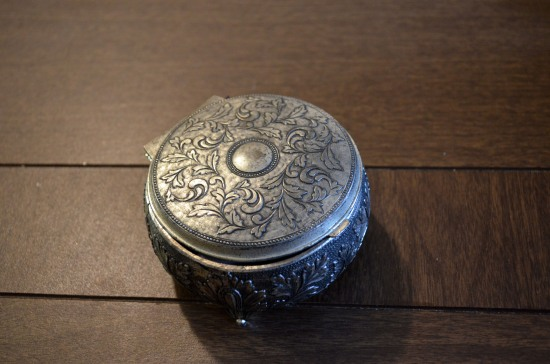 antique silver trinket box
