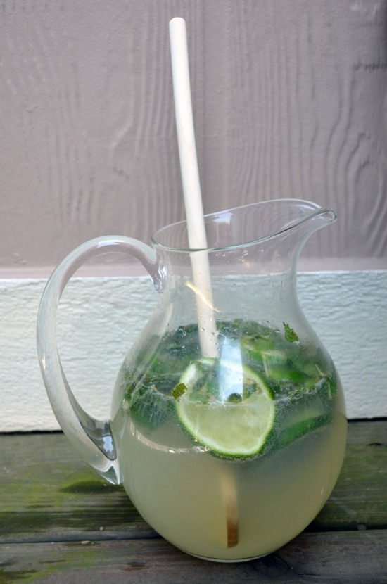homemade mojito pitcher