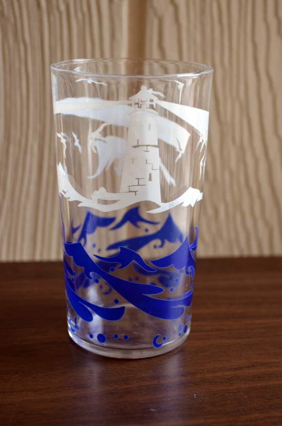 50s nautical glasses