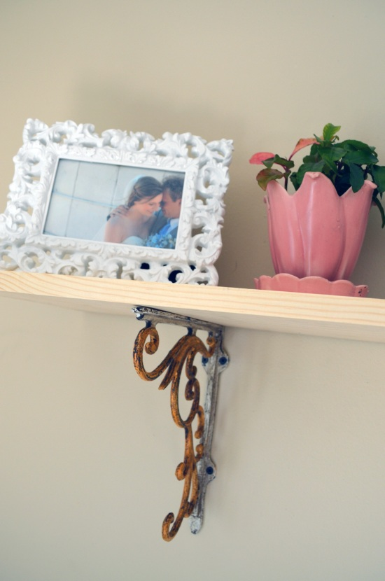 anthropologie wall brackets shelf