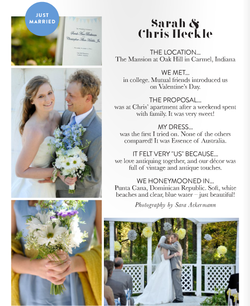 matchbook magazine just married sarah and chris heckle