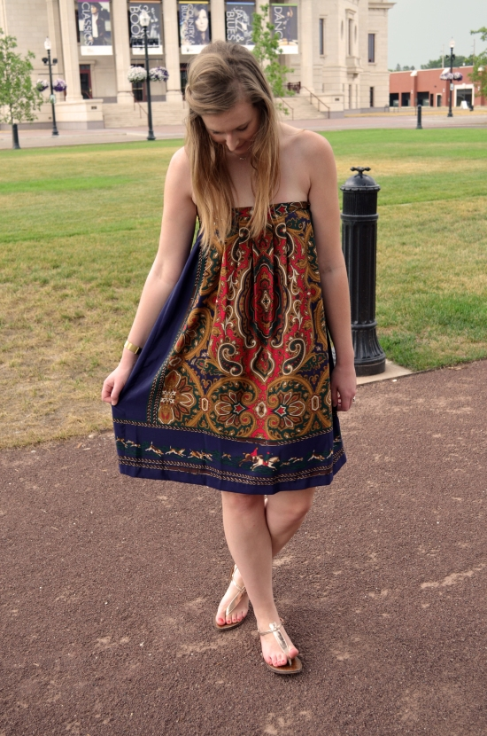 vintage skirt worn as dress