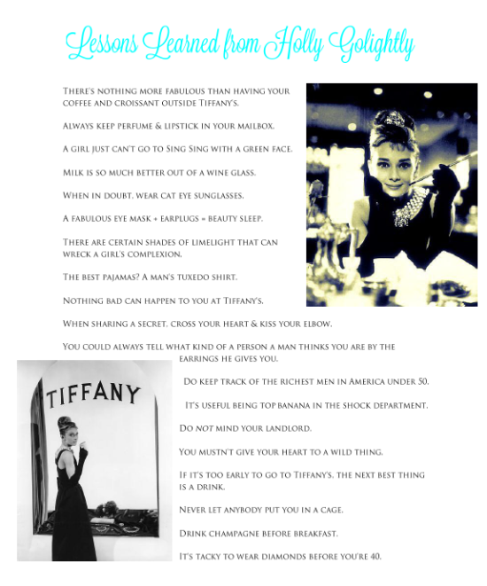 lessons learned from holly golightly