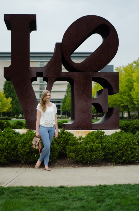 robert indiana LOVE statue indianapolis museum of art