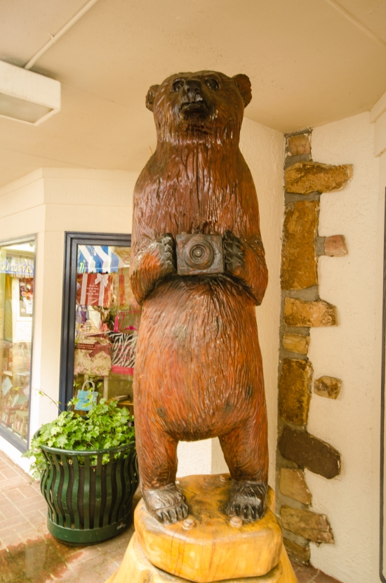 downtown galtinburg carved bear