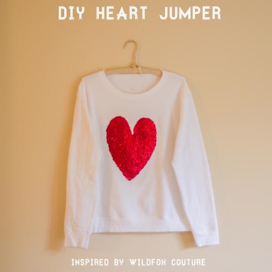 diy valentine's day sweater