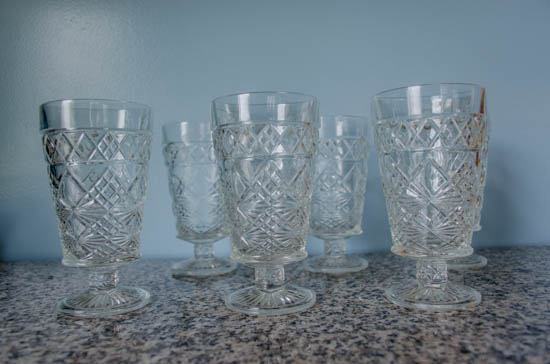 Cut Glass Cups