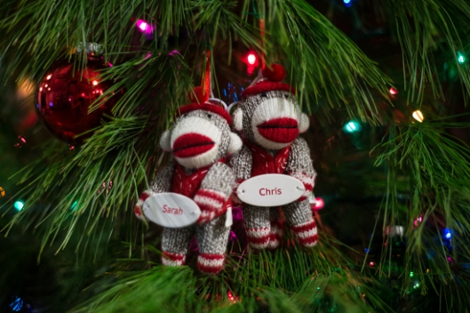 Sock Monkey Christmas Ornaments