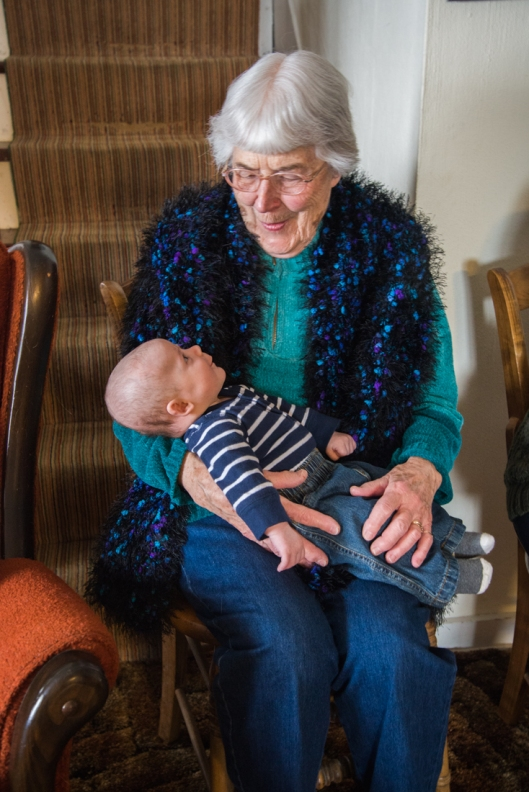 Great Grandma with Great Grandson