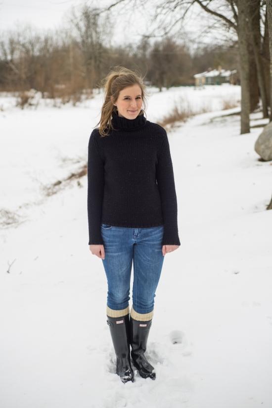 Black Turtleneck Outfit
